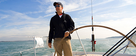 Skipper in Danielis Yachting jacket