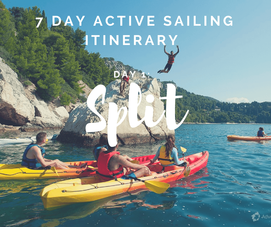 7 Day Active Sailing Itinerary: Day 1: Split