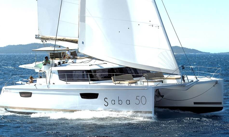 Looking to escape from the ordinary and step into a world of luxury and comfort?  Step onboard the Fountaine Pajot Saba 50 Catamaran, a spacious and elegant vessel that combines comfort with high performance for an unparalleled sailing experience.