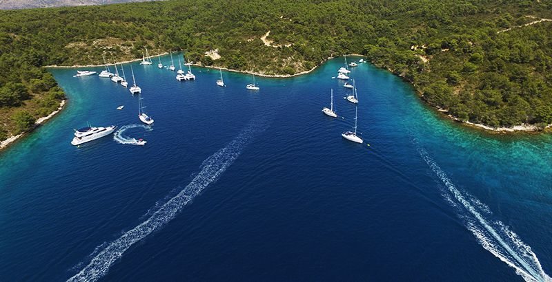 Explore coves when sailing in Croatia