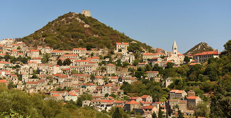 Lastovo and its chimneys