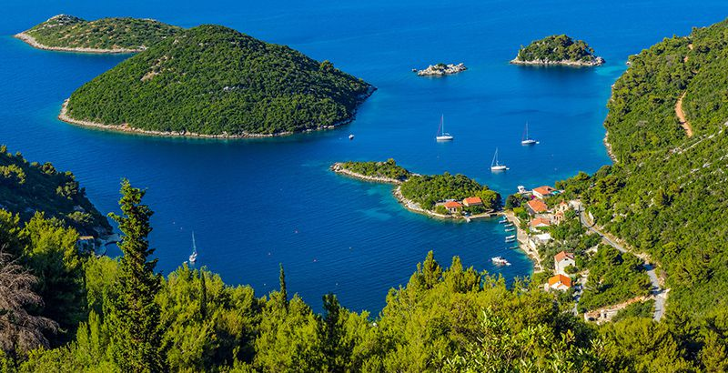 Greek hero Odysseus on the island of Mljet Ogygia