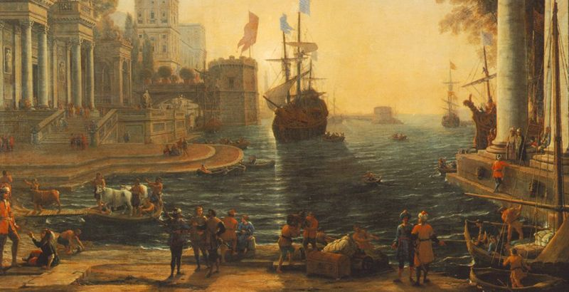 The Return of Odysseus Claude Lorrain 1644