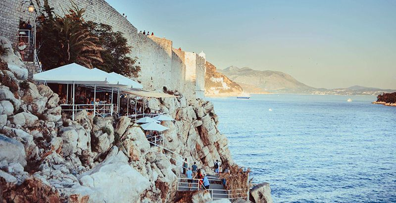 beach bar buza dubrovnik