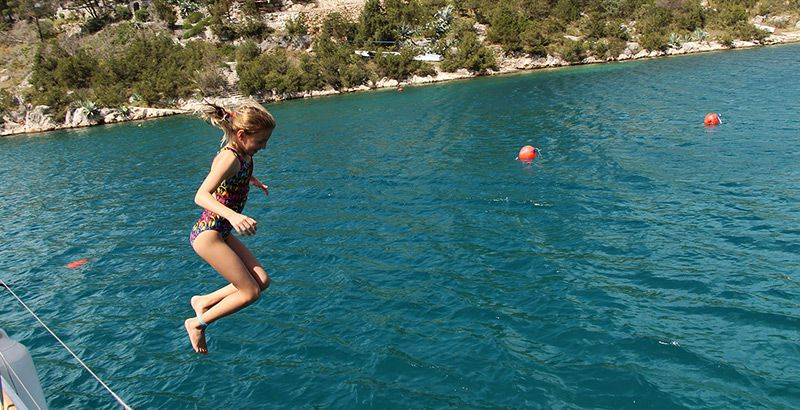 Sailing across Croatia with a baby or a toddler - how to keep children entertained on board