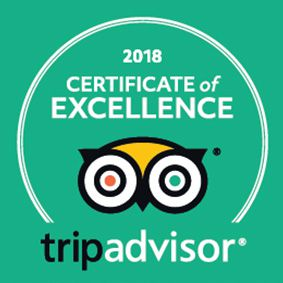 Danielis TripAdvisor Certificate of Excellence 2018