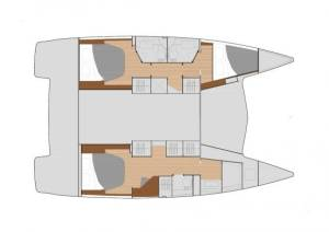 Catamarans Fountaine Pajot Lucia 40 - 3 cab. Space