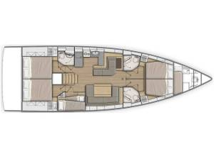 Sailing yachts Oceanis 51.1 5+1 cab Zephyr