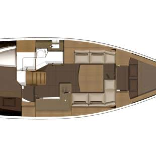 Sailing yachts Dufour 350 GL - 2 cab. White Pearl