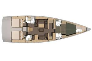 Sailing yachts Dufour Exclusive 56 - 4 + 1 cab. KAZKA - FULLY EQUIPPED