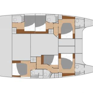 Catamarans Fountaine Pajot Saba 50 - 6 + 2 cab Cerenia