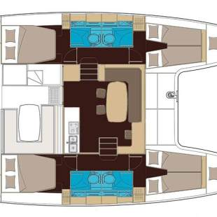 Catamarans Lagoon 400 S2 - 4 + 2 cab. LADIES FIRST