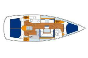 Sailing yachts Sun Odyssey 409 Performance Jean Mirage- A/C